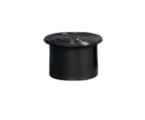 Plastknopp med kant rör