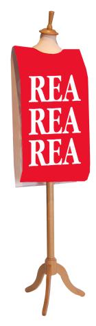 """Överdrag """"REA"""" / Upp till"""
