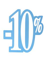 Skylt 10%, utskuren