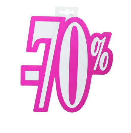 Skylt 70%, utskuren